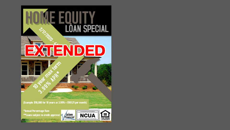 Home equity loan special as low as 3.99 percent