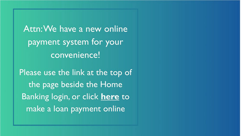 We have a new online  payment system for your  convenience