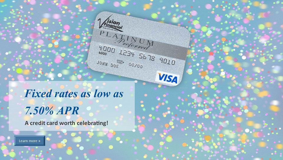 Visa Platinum fixed rates as low as 7.5 percent